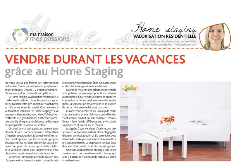 Lucie Fortin Chroniqueuse Home Staging